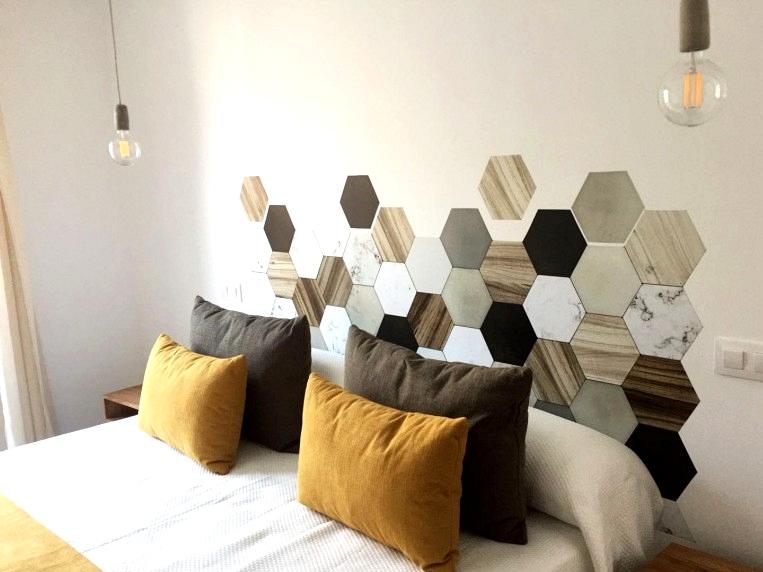 Diy-with-vinyl-for-headboard-of-bed-hexagonal-tiles-ceramic-and-wood-lokoloko-design