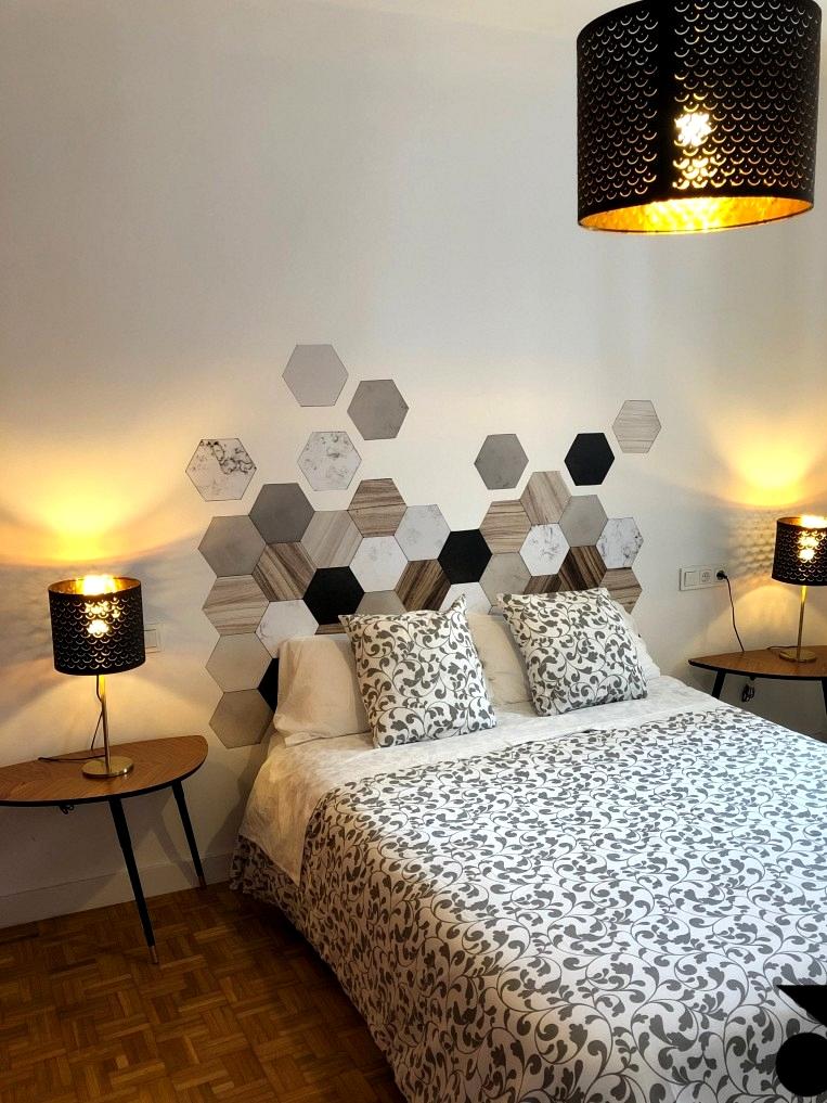 Decorate-headboard-of-bed-with-vinyl-washable-self-adhesive-of-hexagonal-tiles-ceramic-marble-wood-lokoloko