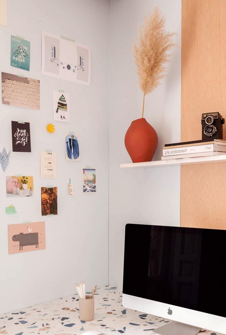 Desk-table-renovated-with-vinyl-for-furniture-dark-terrazzo-office-fabricadeimaginacion-lokoloko