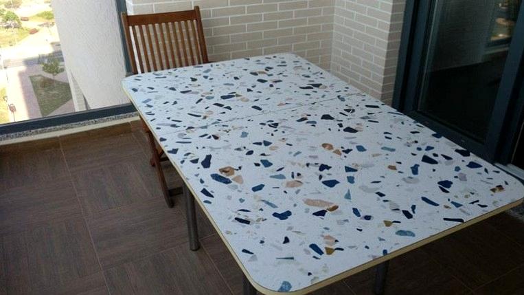 Vinyl-waterproof-texture-dark-terrazzo-to-renew-and-change-terrace-tables-lokoloko