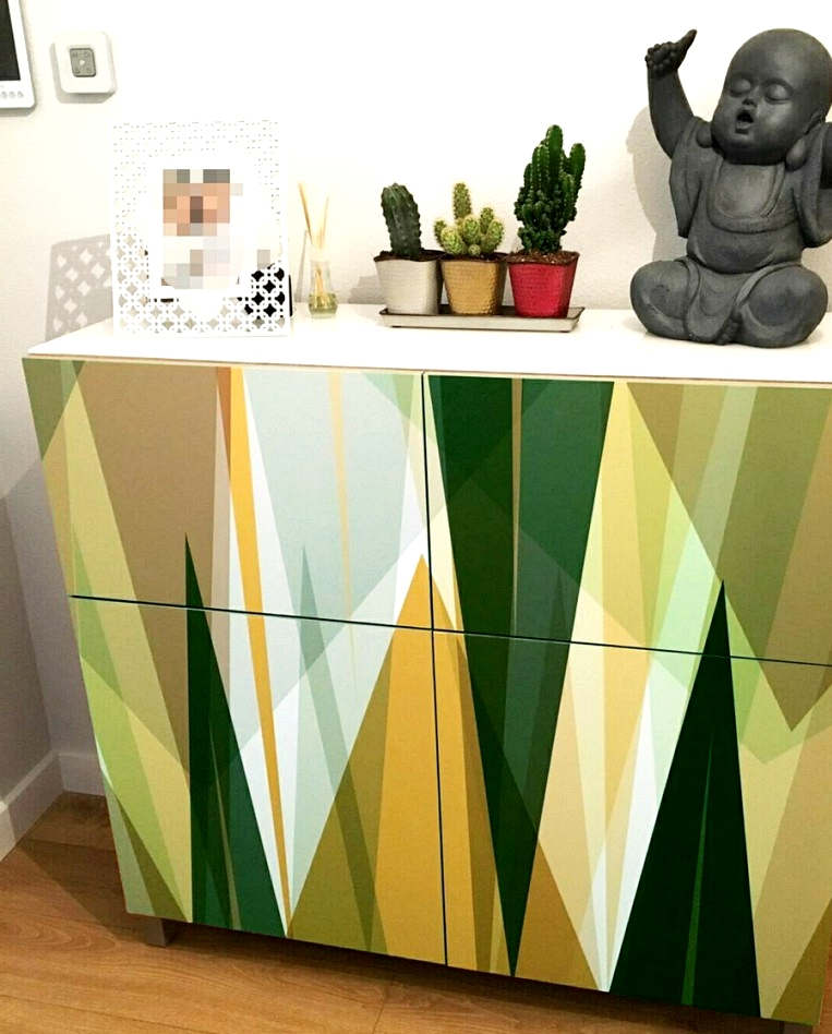 Vinyl-washable-geometric-pattern-9-to-renovate-and-tune-sideboards-hall-of-home-lokoloko-design