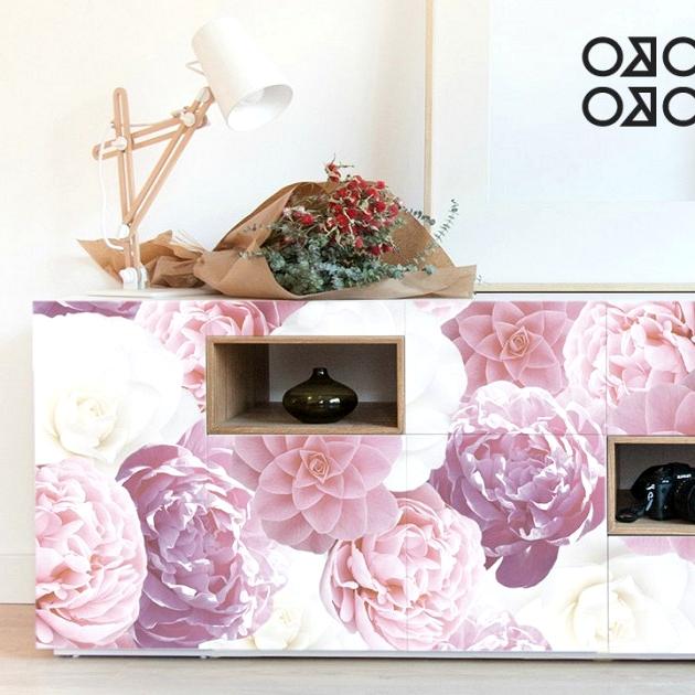print-white-flowers-roses-modern-living rooms