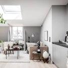 Cozy attic home in grey