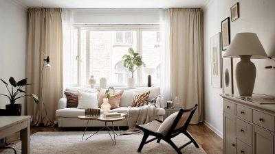 Residence in a heat beige palette