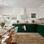 Forest green kitchen